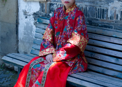 Model in Traditional Dress